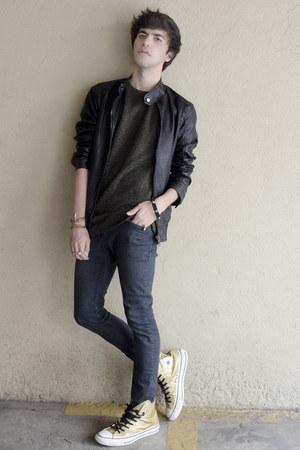 sammydress bracelet - H&M jeans - Forever 21 jacket - Converse sneakers