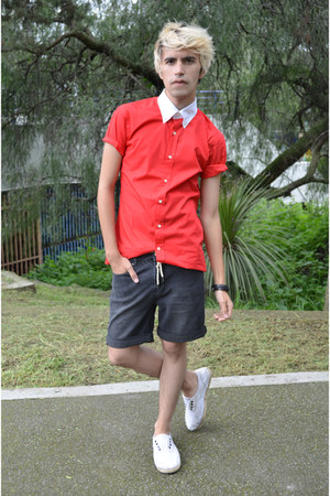 tailor4less shirt - pull&bear shorts - Zara sneakers - H&M bracelet