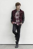 pull&bear necklace - asos boots - asos jeans - Zara jacket - H&M shirt