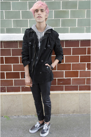 thrifted ring - H&M jeans - asos jacket - Vans sneakers - asos hoodie