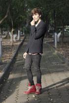 H&M jeans - H&M sweater - asos blazer - maison martin margiela sneakers