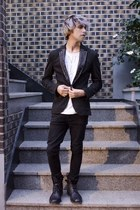Zara blazer - asos boots - asos jeans - H&M t-shirt