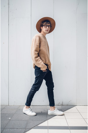 Dr Denim jeans - Tokyo And hat - H&M sweater - asos glasses