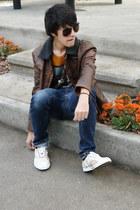 Zara jeans - Zara Kids jacket - Zara t-shirt - Lacoste sneakers