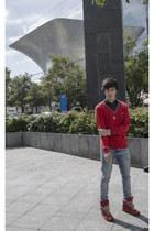 H&M jeans - Lacoste sweater - H&M t-shirt - maison martin margiela sneakers