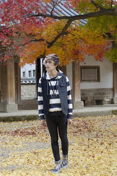 H&M jeans - codes combine sweatshirt - asos vest - Vans sneakers