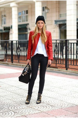 Zara jacket - Chloe boots - Givenchy bag