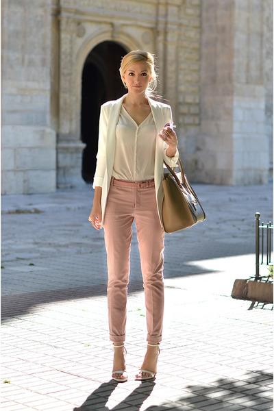 Celine bag - Zara blazer - Zara pants