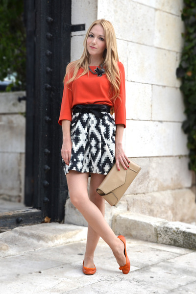 Carrot Orange Zara Blouse | Chictopia