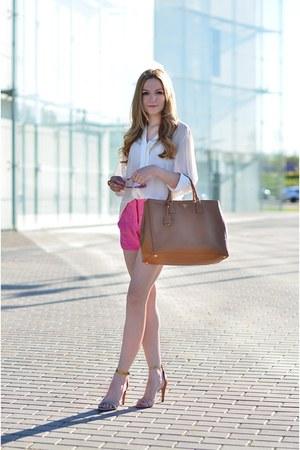 Prada bag - Zara shorts