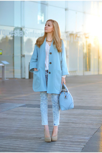 asos coat - Givenchy bag - Zara pants