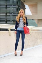 Valentino bag - 7 for all mankind jeans - Zara jacket