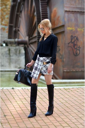 Three Floor skirt - Zara boots - Givenchy bag