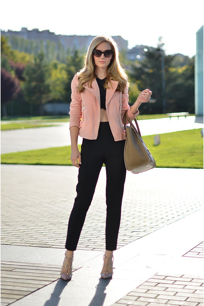 Mango jacket - Celine bag - asos pants