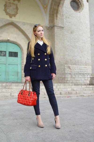 Carolina Herrera coat - Carolina Herrera bag - Antonio Parriego heels - Zara jea