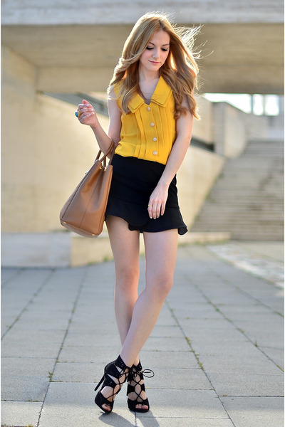 QW skirt - Zara shoes - Prada bag