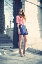 bdba shorts - Zara heels - bdba blouse - Bimba&Lola ring