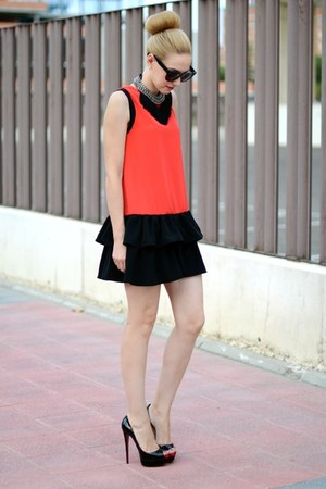 Christian Louboutin shoes - asos dress - Celine sunglasses