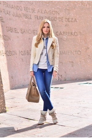 Celine purse - Zara jacket - Isabel Marant sneakers