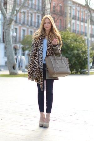 Celine bag - Zara coat - Diesel jeans