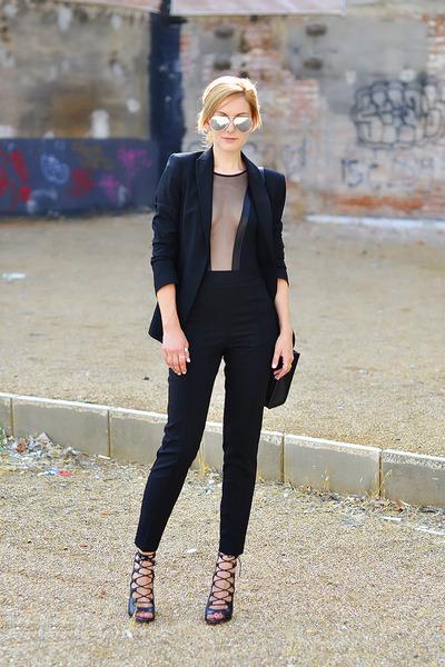 American Apparel bodysuit - Zara shoes - Celine purse