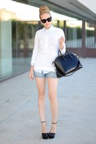 SANDRO sweater - Givenchy bag - Celine sunglasses - Zara wedges