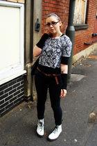silver Topshop top - black Topshop jeans - white Dr Martens boots - black Topsho