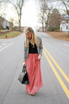 pink Forever 21 skirt - booties tan sam edelman shoes