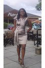 Silk-bow-dress-karen-millen-dress-patterned-nude-aldo-purse-aldo-heels