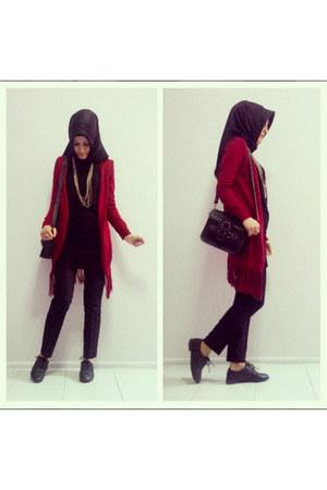 black Ece dress - black Sunway scarf - black bag - black Fusion pants