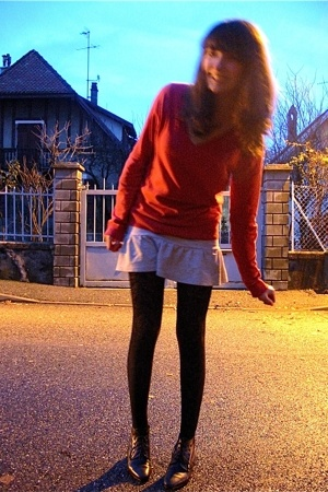 Zara sweater - i dont remember the brand  skirt - H&amp;M tights - shoes