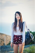 Jeffrey Campbell boots - Topshop bag - crimson Koshka shorts