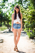 CarMar shorts - Sugarlips blouse - free people clogs