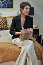 black Theory blazer - brown Casa dYazmin Vintage bag - beige merona pants - beig