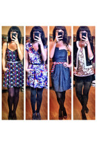 Urban Outfitters dress - Forever 21 dress - boutique dress - thrifted shorts