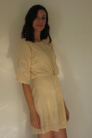 beige Gat Rimon dress