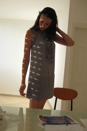 silver A dress