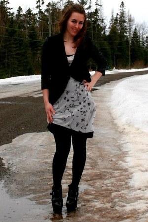 white rachel roy dress - black black wedges Jessica Simpson shoes