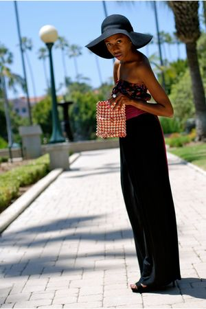 black H&M accessories - vintage dress - black Forever 21 skirt - vintage wallet