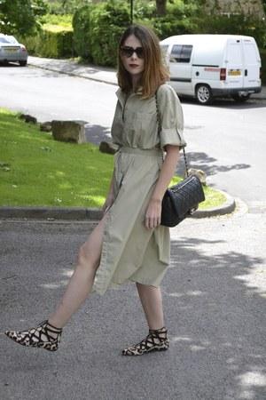 vintage dress - Chanel bag - Prada sunglasses - Office flats