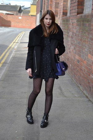 Mulberry coat - Kurt Geiger boots - whistles dress - Mulberry bag