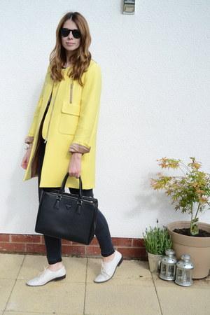 Zara coat - Topshop jeans