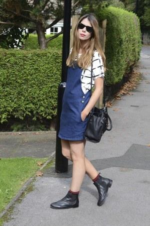 Topshop boots - Topshop dress - Zara bag - Ray Ban sunglasses