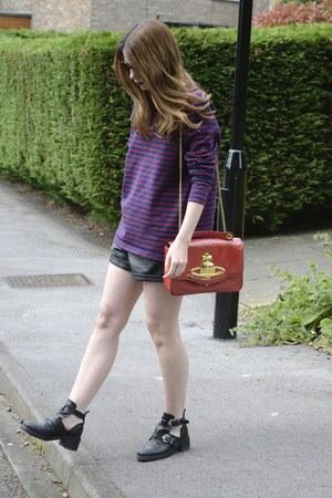 Topshop shorts - vivienne westwood bag - Prada sunglasses - Topshop flats