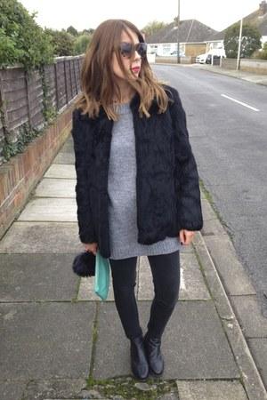Topshop boots - Topshop jeans - thrifted vintage jacket - Prada sunglasses