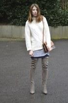 Matalan boots - Zara bag - Topshop skirt - H&M jumper