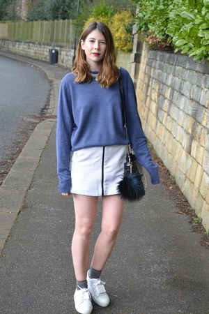 acne shoes - Topshop skirt - Primark jumper