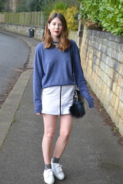 acne shoes - Topshop skirt - Primark jumper