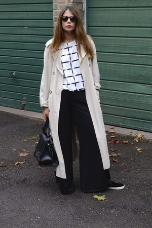 vintage coat - Primark pants - new look sneakers - Chiara fashion top