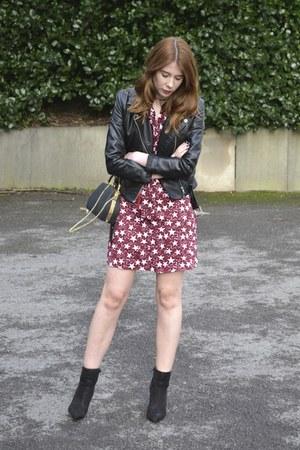 Primark boots - Glamorous dress - H&M jacket